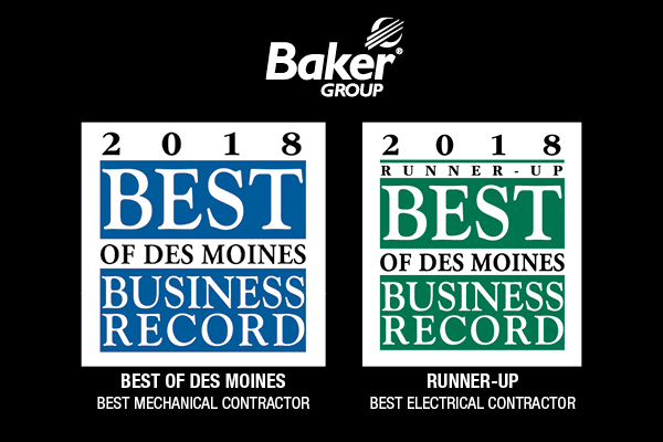 BAKER GROUP NAMED BEST IN DES MOINES FOR 12th STRAIGHT YEAR